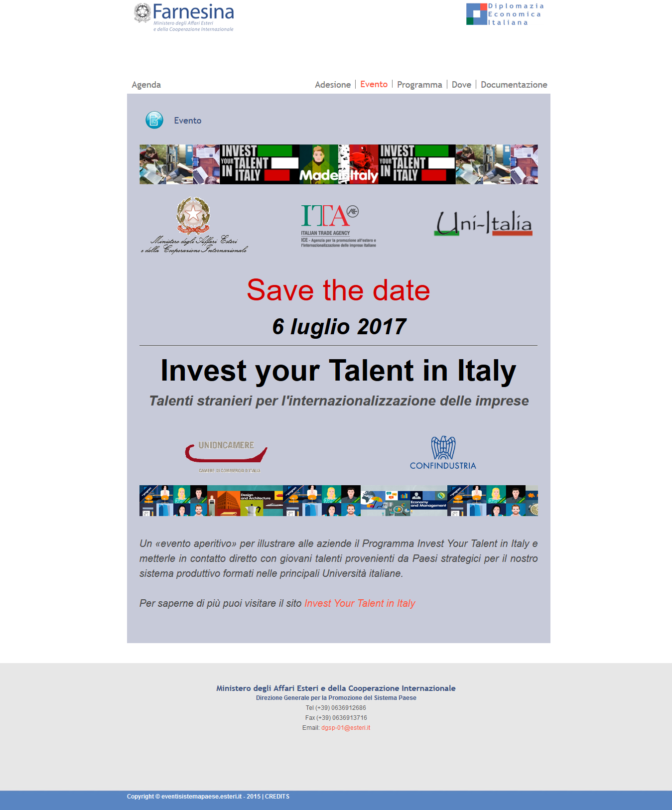 Invest your talent Italy