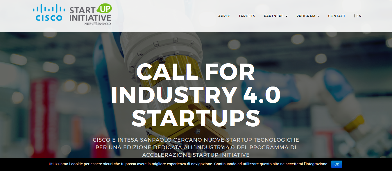 Call for startups Cisco Industry 4.0