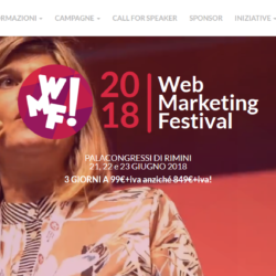 Call Startup Competition Web Marketing Festival 2018